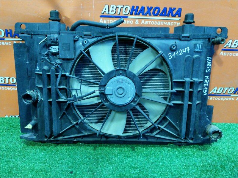 Радиатор двигателя Toyota Auris NZE151 1NZ-FE 06.2007 +БЛОК УПРАВЛЕНИЯ ВЕНТИЛЯТОРОМ