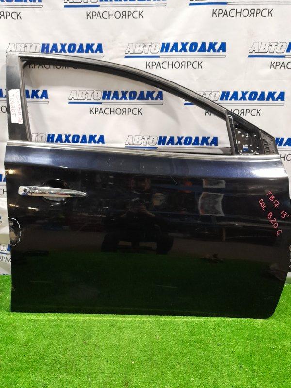 Дверь Nissan Sylphy TB17 MRA8DE 2012 передняя правая передняя правая, в сборе, цвет B20 G, есть