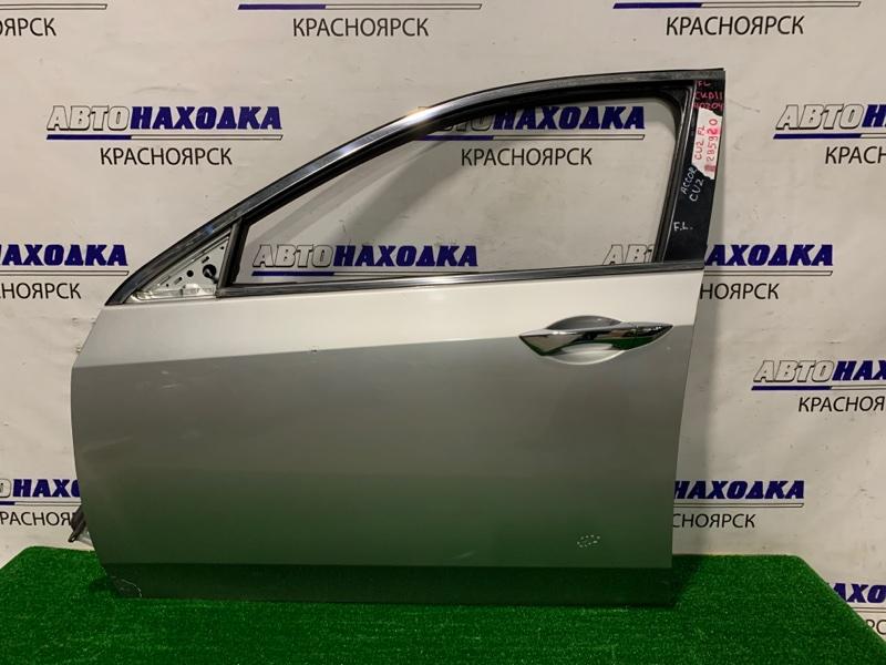 Дверь Honda Accord CU2 K24A 2008 передняя левая передняя левая, в сборе, правый руль, есть вмятинка,