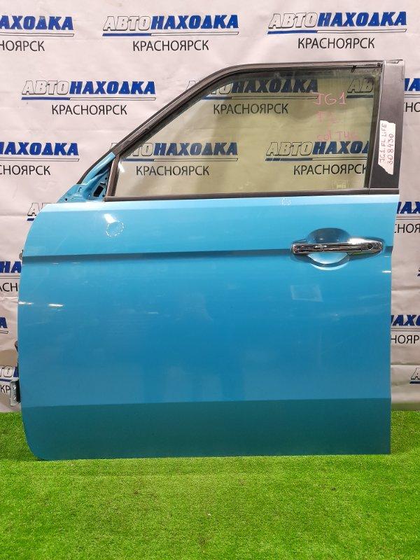 Дверь Honda N-One JG1 S07A 2012 передняя левая передняя левая в сборе, цвет T4G, есть мелкие