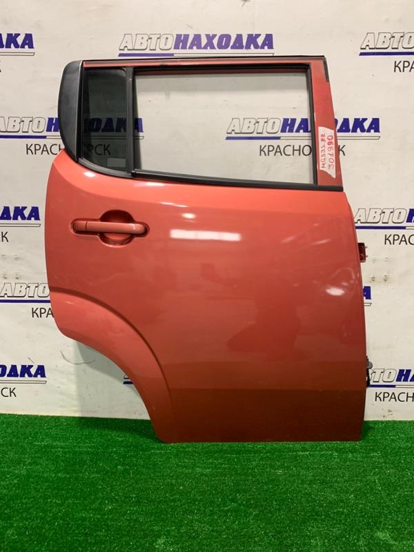 Дверь Nissan Moco MG33S R06A 2011 задняя правая задняя правая, в сборе, цвет ZSU, есть потертости