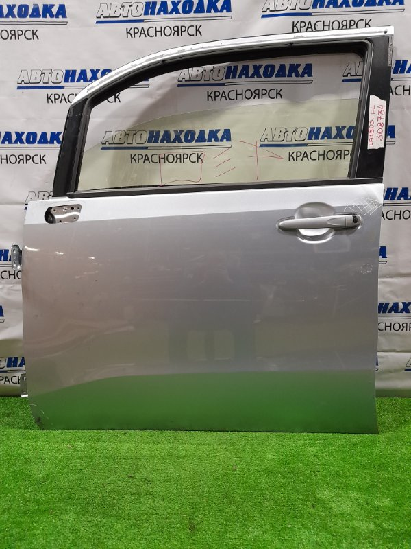 Дверь Daihatsu Move LA150S KF 2014 передняя левая Передняя, левая, в сборе, серебристая (S28), есть