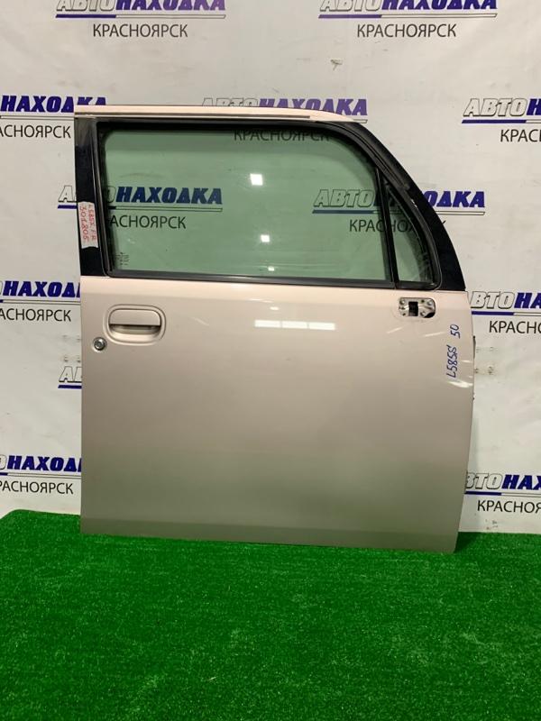 Дверь Daihatsu Move Conte L575S KF-VE 2008 передняя правая передняя правая, в сборе, есть потертости
