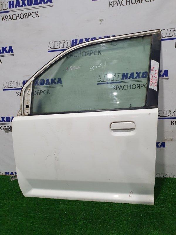 Дверь Mitsubishi Ek Wagon H81W 3G83 2001 передняя левая Передняя, левая, в сборе. Есть ржавчина,