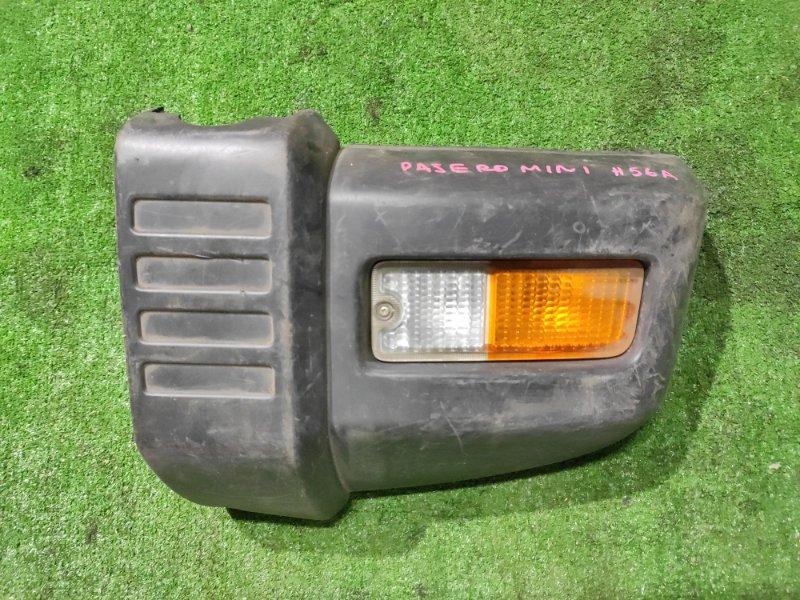 Клык бампера Mitsubishi Pajero Mini H56A 4A30 передний левый MR15721 +ПОВТОРИТЕЛЬ 33-82