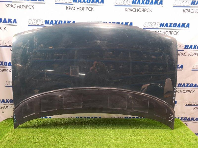 Капот Mazda Mpv LVEW JE 1990 передний Дорестайлинг. С накладкой, есть потертости, царапины.