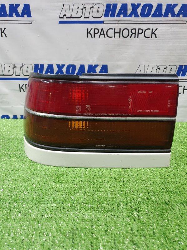 Фонарь задний Toyota Corona ST170 4S-FI 1987 задний левый 20-199 Левый, 20-199, с планкой. / Дорестайлинг.