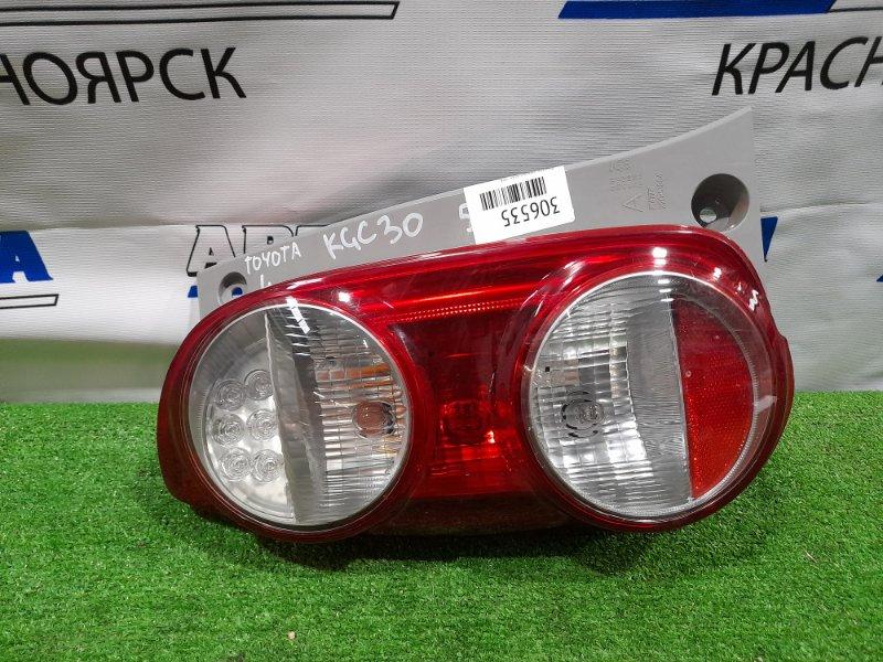 Фонарь задний Toyota Passo KGC30 1KR-FE 2010 задний левый 220-51004 левый, 220-51004. Дорестайлинг.