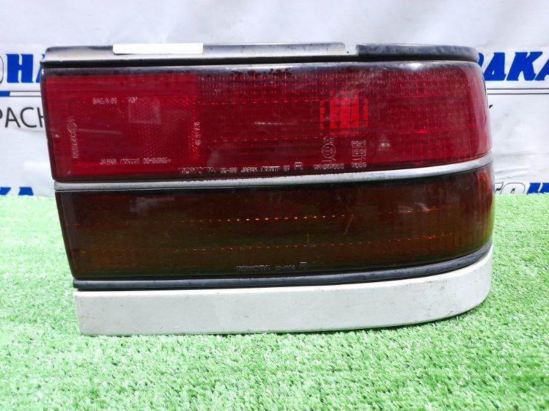 Фонарь задний Toyota Corona ST170 4S-FI 1987 задний правый 20-199 Правый, с белой планкой, 1 модель, 20-199
