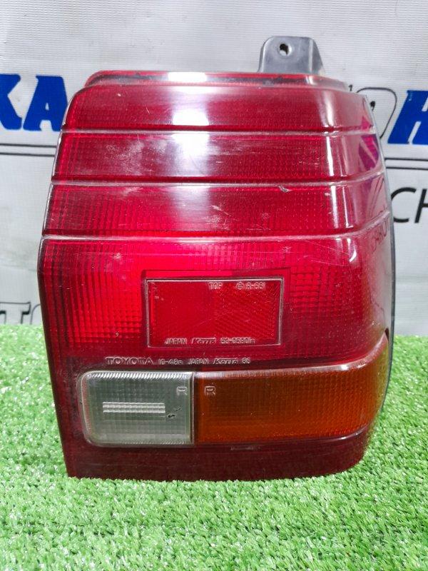 Фонарь задний Toyota Starlet EP71 2E-LU 1984 задний правый 16345 Правый, 10-48, 3-х дверка.