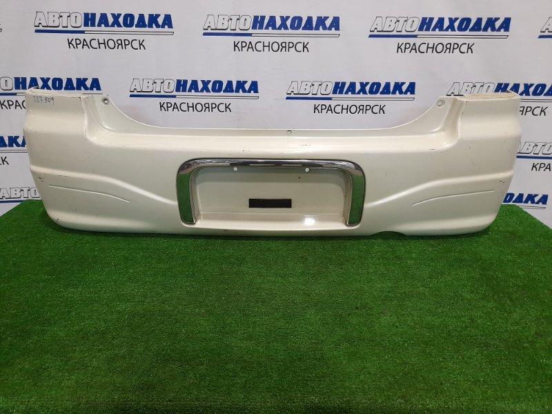 Бампер Suzuki Alto HA12S F6A 1998 задний задний, с хром окантовкой номера,пошоркан, дефект 2-х