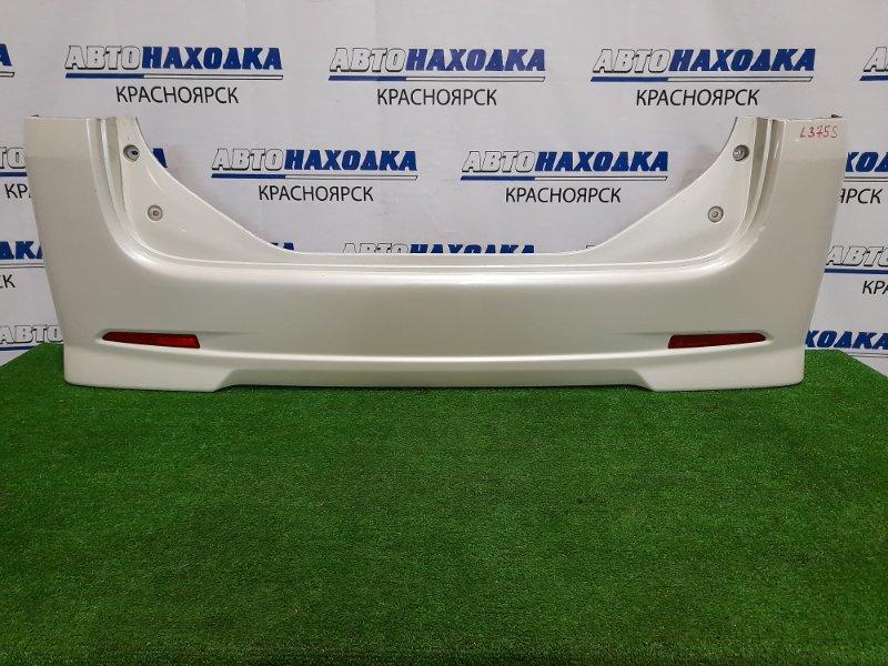 Бампер Daihatsu Tanto L375S KF 2007 задний задний, с катафотами, пошоркан.