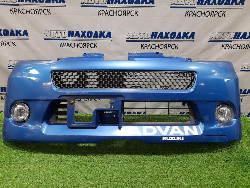 Бампер Suzuki Mr Wagon MF21S K6A 2001 передний 71711-73H10 передний с туманками, решетками, пошоркан