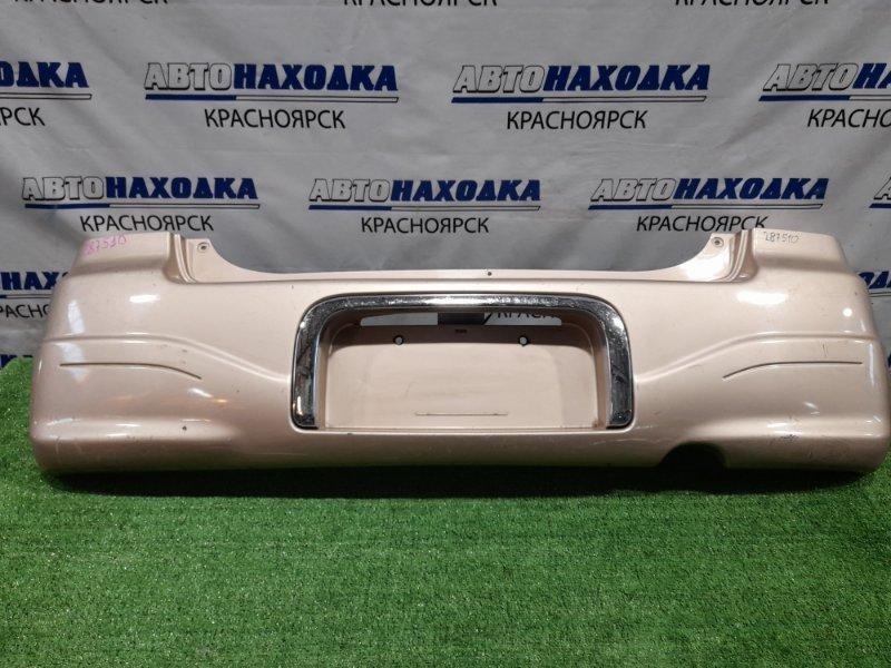 Бампер Suzuki Alto HA12S F6A 1998 задний 71811-76G10-799 Задний, пошоркан, с хром окантовкой номера