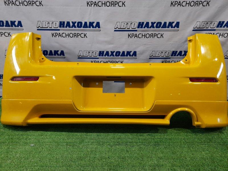 Бампер Daihatsu Max L950S EF-VE 2001 задний 53-17601 Задний, с губой, катафотами (53-17601), пошоркан.