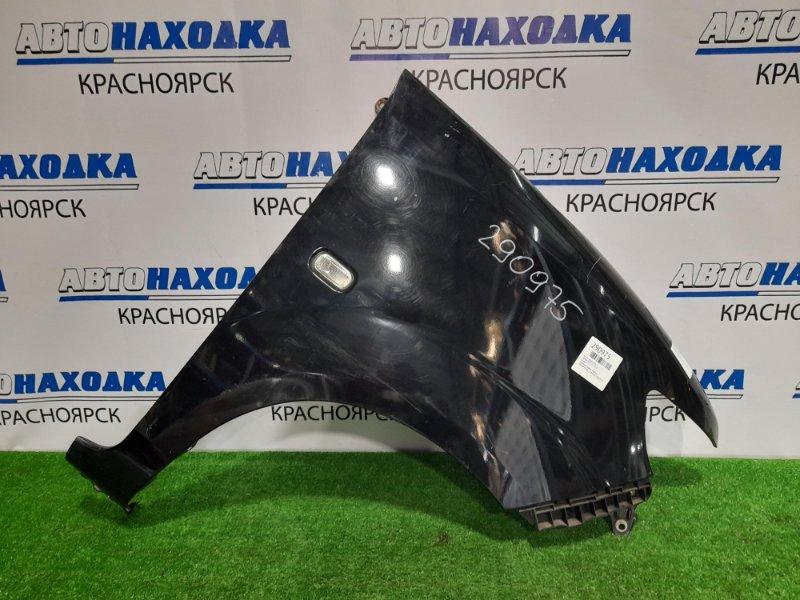 Крыло Honda Zest JE1 P07A 2006 переднее правое переднее правое, черное, с повторителем, с клипсой,