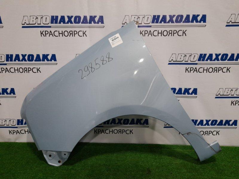 Крыло Daihatsu Move Conte L575S KF 2008 переднее левое переднее левое, голубое, царапины до металла /