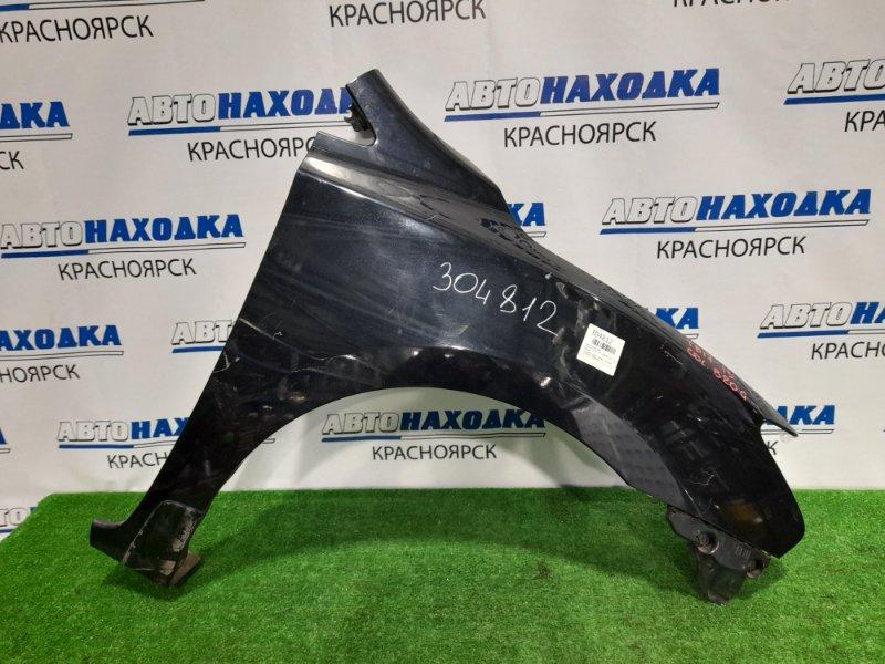 Крыло Nissan Sylphy TB17 MRA8DE 2012 переднее правое переднее правое, черное, с клипсой, потертости,
