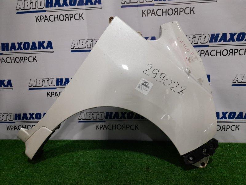 Крыло Subaru Stella LA100F KF 2011 переднее правое переднее правое, белый перламутр, с накладкой, с