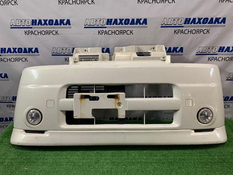 Бампер Daihatsu Tanto L360S EF-VE 2003 передний Передний, с туманками (одна треснута), пошоркан.