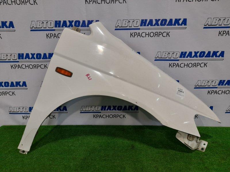 Крыло Honda Lagreat RL1 J35A 1999 переднее правое переднее правое, белое, с повторителем, дефект