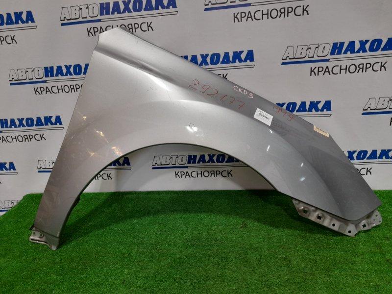 Крыло Subaru Legacy BM9 EJ25 2009 переднее правое переднее правое, серое, царапины, малозаметная