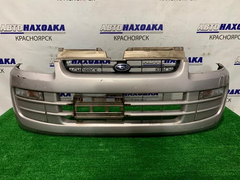 Бампер Subaru Pleo RA1 EN07 2000 передний 3446 передний, с повторителями, шоркнут.
