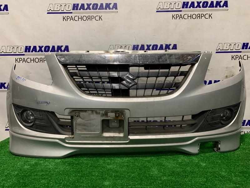 Бампер Suzuki Cervo HG21S K6A 2006 передний 77250-66K00 Передний, с туманками, решеткой, губой, без