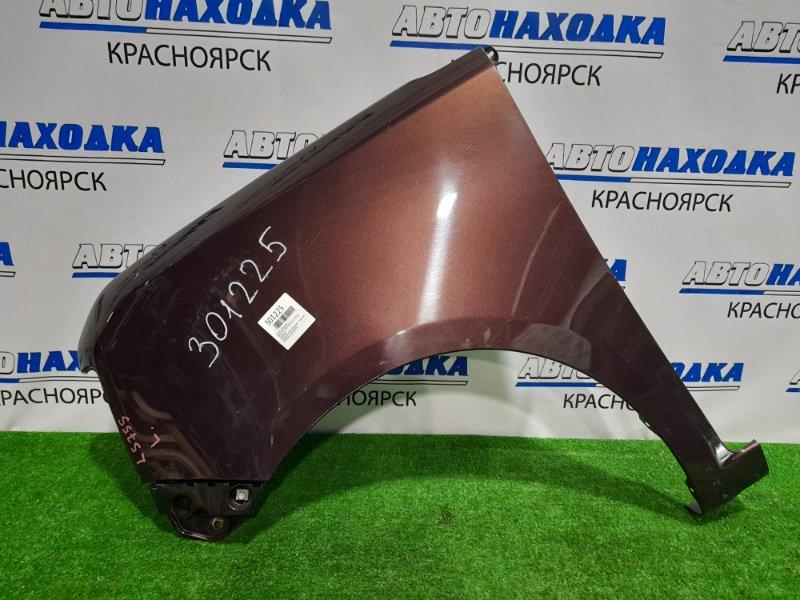 Крыло Daihatsu Move Conte L575S KF 2008 переднее левое переднее левое, бордовое, с клипсой, 1
