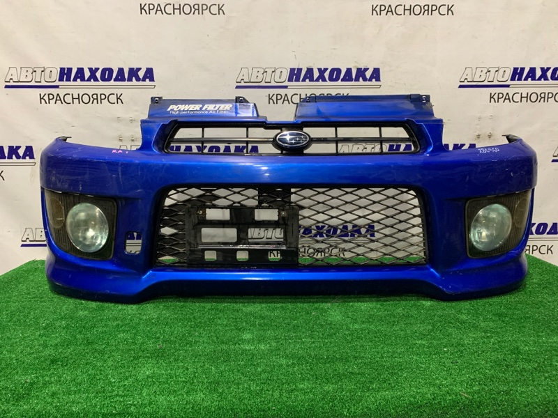 Бампер Subaru Pleo RA1 EN07 2002 передний 114-20778 Передний, второй рестайлинг, с туманками (114-20778),