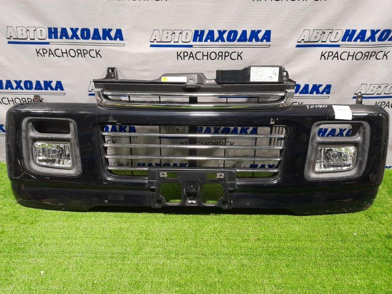 Бампер Suzuki Every DA62W K6AT 1999 передний Передний, с туманками (114-32673), пошоркан, хром с