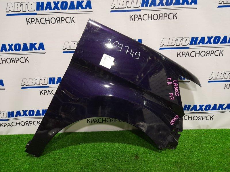 Крыло Daihatsu Tanto LA600S KF-VE 2013 переднее правое переднее правое, пластиковое, фиолетовое,