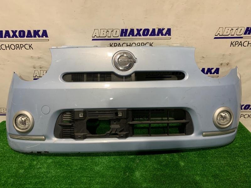 Бампер Daihatsu Mira Cocoa L675S KF передний Передний, с туманками, пошоркан, есть трещина.