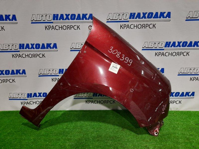Крыло Honda N-One JG1 S07A 2012 переднее правое переднее правое, бордовое, вмятинки, царапины, под