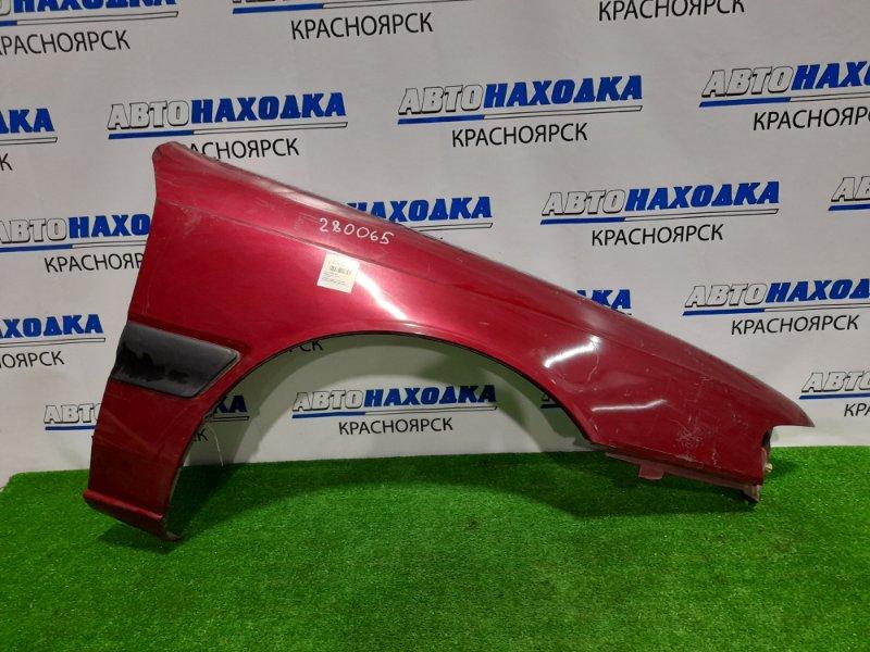 Крыло Mazda Capella GVER FE-DE 1992 переднее правое переднее правое, с молдингом, бордовое,
