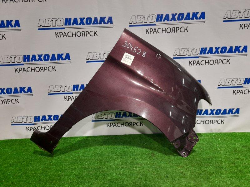 Крыло Daihatsu Tanto L375S KF 2007 переднее правое переднее правое, фиолетовое, вмятинка, царапина