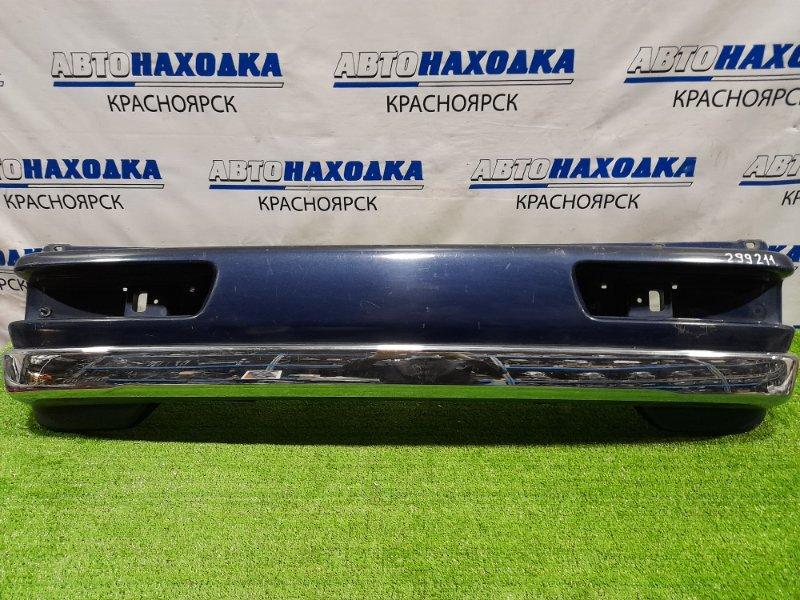 Бампер Suzuki Every DE51V F6A 1991 задний задний, есть потертости до пластика, хром с небольшими