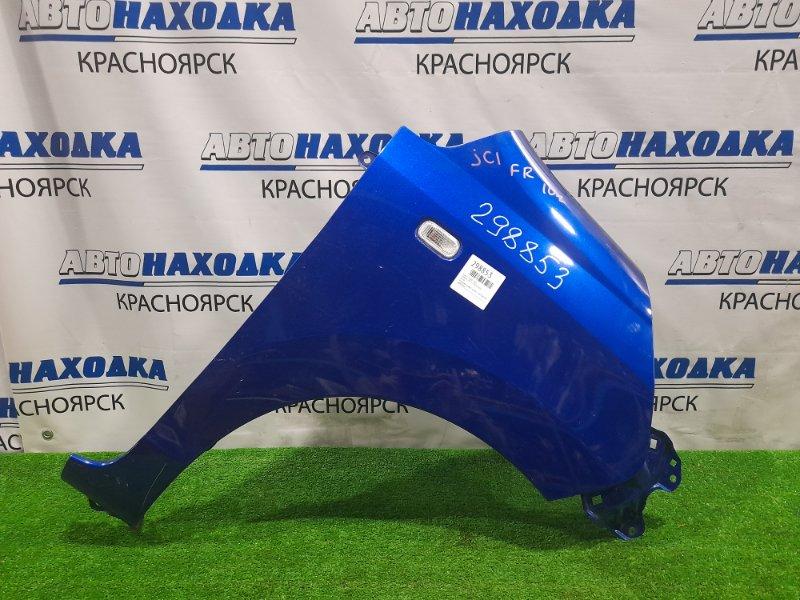 Крыло Honda Life JC1 P07A 2008 переднее правое переднее правое, синее, с повторителем, царапинки