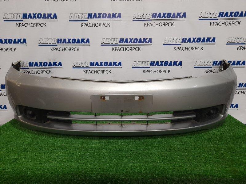 Бампер Honda Stream RN1 D17A 2003 передний передний, рестайлинг, с заглушками. Пошоркан до