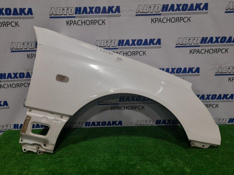 Крыло Toyota Celsior UCF31 3UZ-FE 2000 переднее правое переднее правое, белый перламутр, с