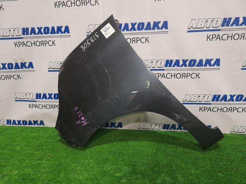 Крыло Suzuki Palette MK21S K6A 2008 переднее левое переднее левое, темно-синее, с торцевой