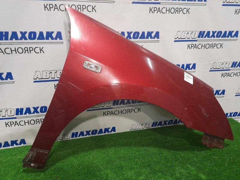 Крыло Nissan Bluebird Sylphy KG11 MR20DE 2005 переднее правое переднее правое, красное, с повторителем,
