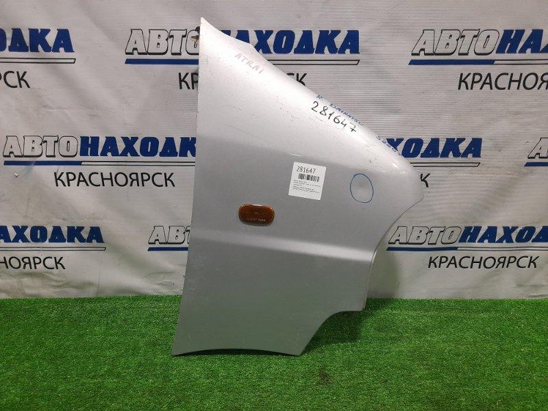 Крыло Daihatsu Atrai S220V EF-VE 1999 переднее правое переднее правое, серебристое, с повторителем,