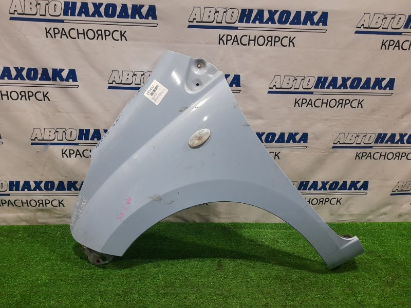 Крыло Suzuki Alto HA25S K6A 2009 переднее левое переднее левое, голубое, с повторителем, с