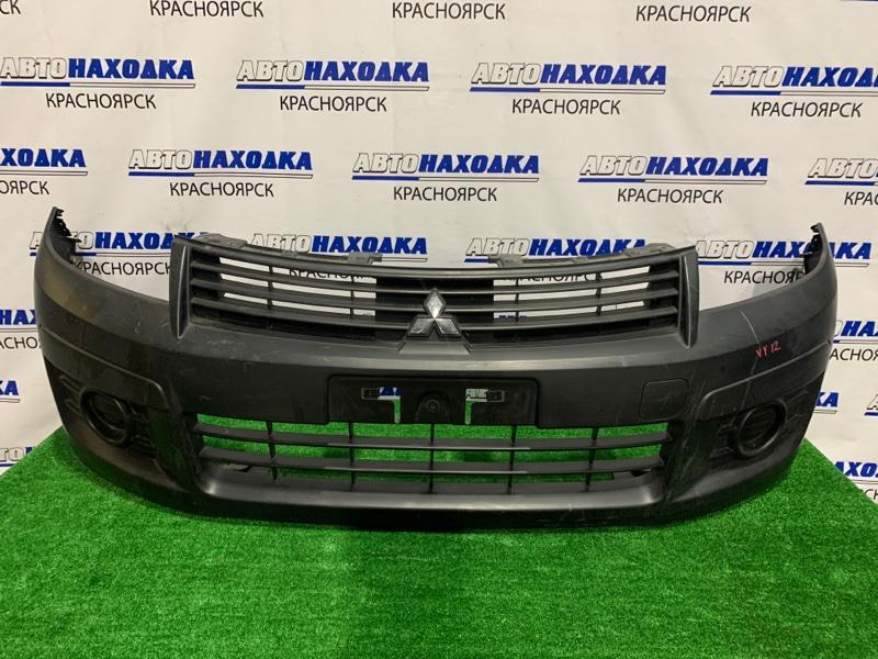 Бампер Mitsubishi Lancer CVY12 HR15DE 2008 передний передний, некрашеный, пошоркан, подмят.