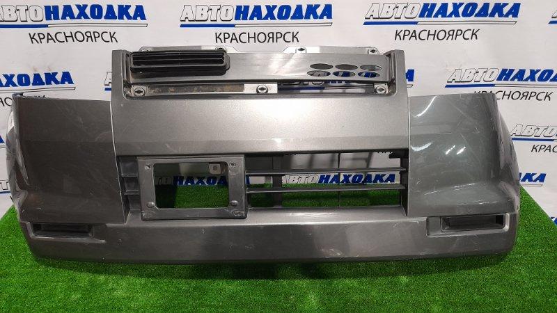 Бампер Mitsubishi Ek Wagon H81W 3G83 2001 передний MN133944HB Передний, пошоркан