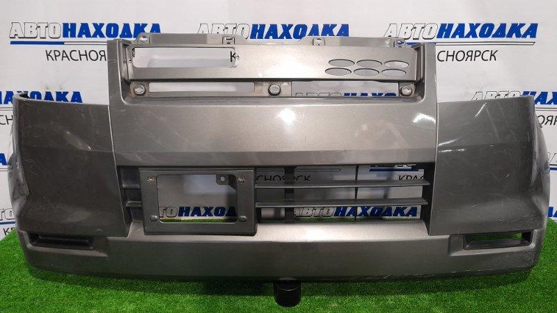 Бампер Mitsubishi Ek Wagon H81W 3G83 2001 передний передний, пошоркан.