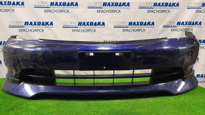 Бампер Honda Stream RN1 D17A 2000 передний Передний, дорестайлинг, с губой. Пошоркан.