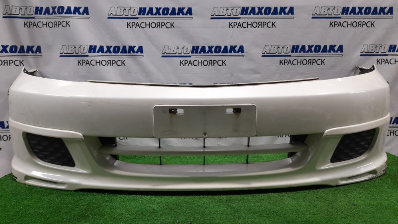 Бампер Honda Stream RN1 D17A 2003 передний Передний, рестайлинг, с губой, заглушками, пошоркан,