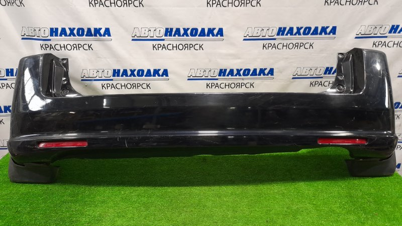 Бампер Honda Mobilio Spike GK1 L15A 2005 задний задний, с катафотами, брызговиками, пошоркан. /